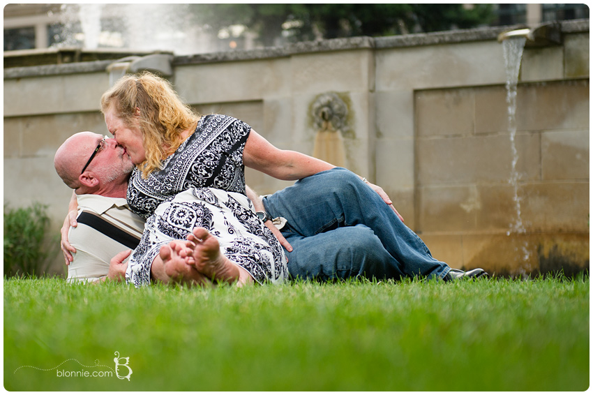 Longwood Gardens Engagement Shot